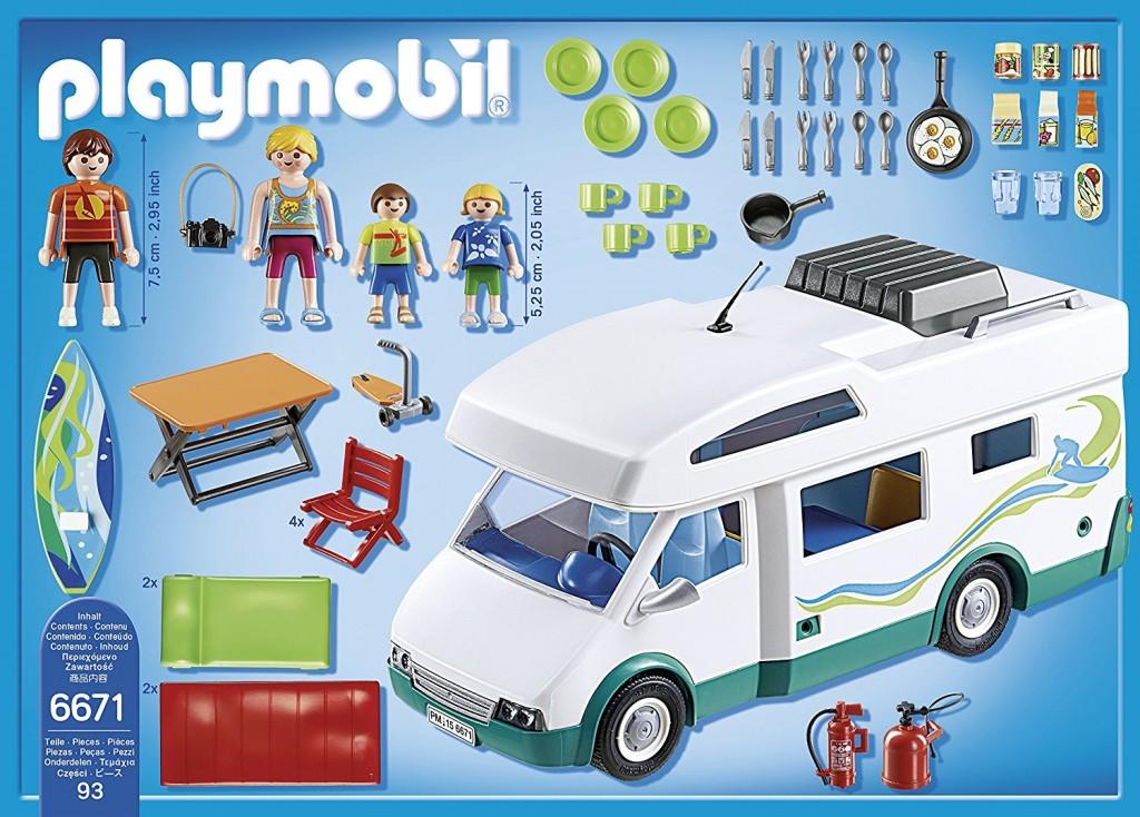 Playmobil 6671 caravana de verano con cuatro figuras
