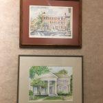 2 Displayed Watercolors