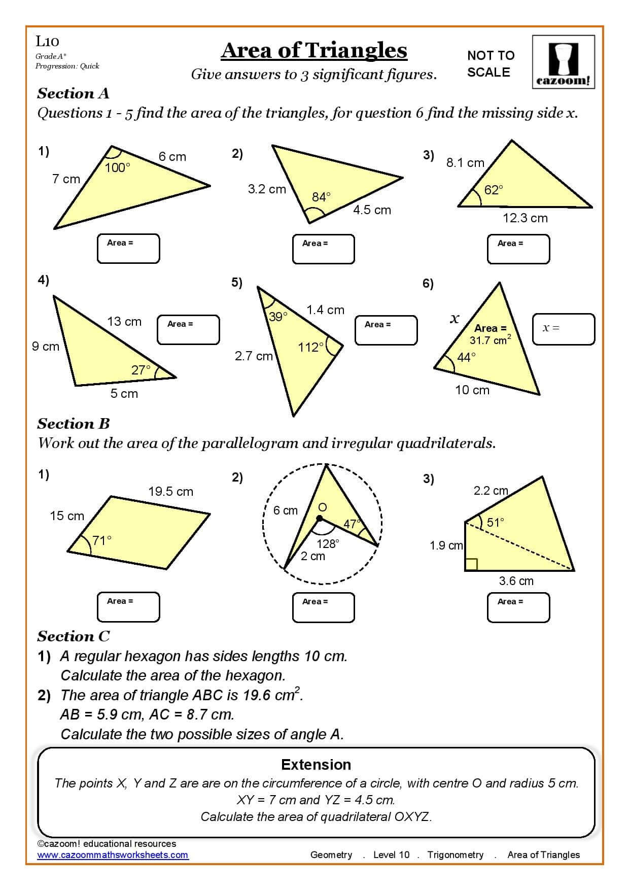 Common Core Aligned Math Worksheets