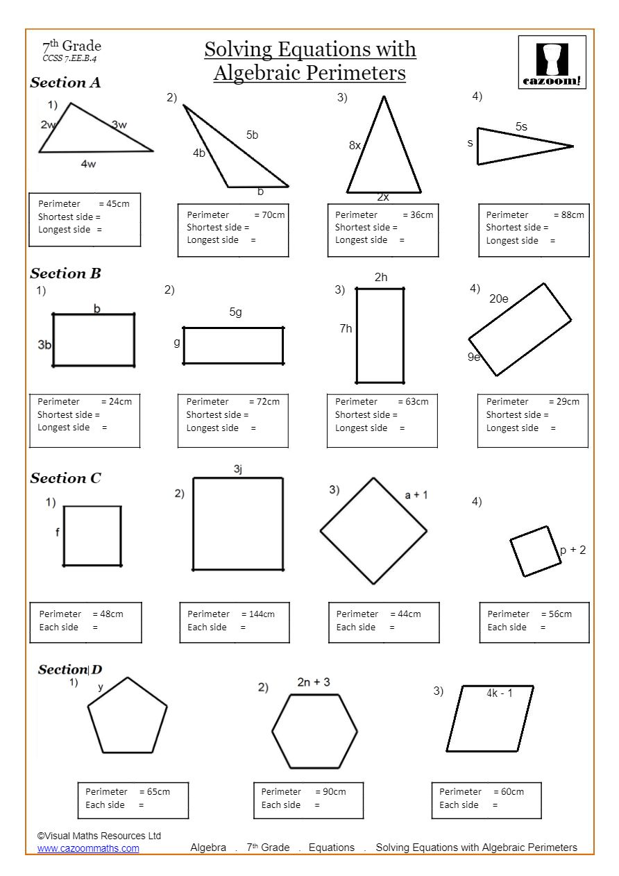 medium resolution of Solving Linear Equations Worksheets PDF   Cazoom Math