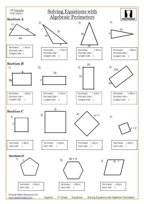 small resolution of Solving Linear Equations Worksheets PDF   Cazoom Math