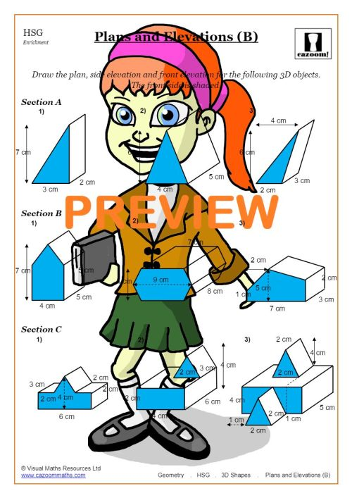 small resolution of Free 3D Shapes Worksheets   Cazoom Maths