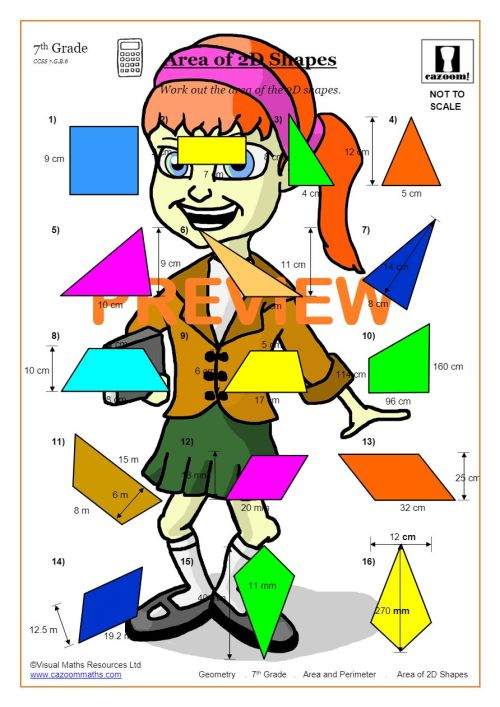 small resolution of Area And Perimeter (Math Worksheets)   Cazoom Maths