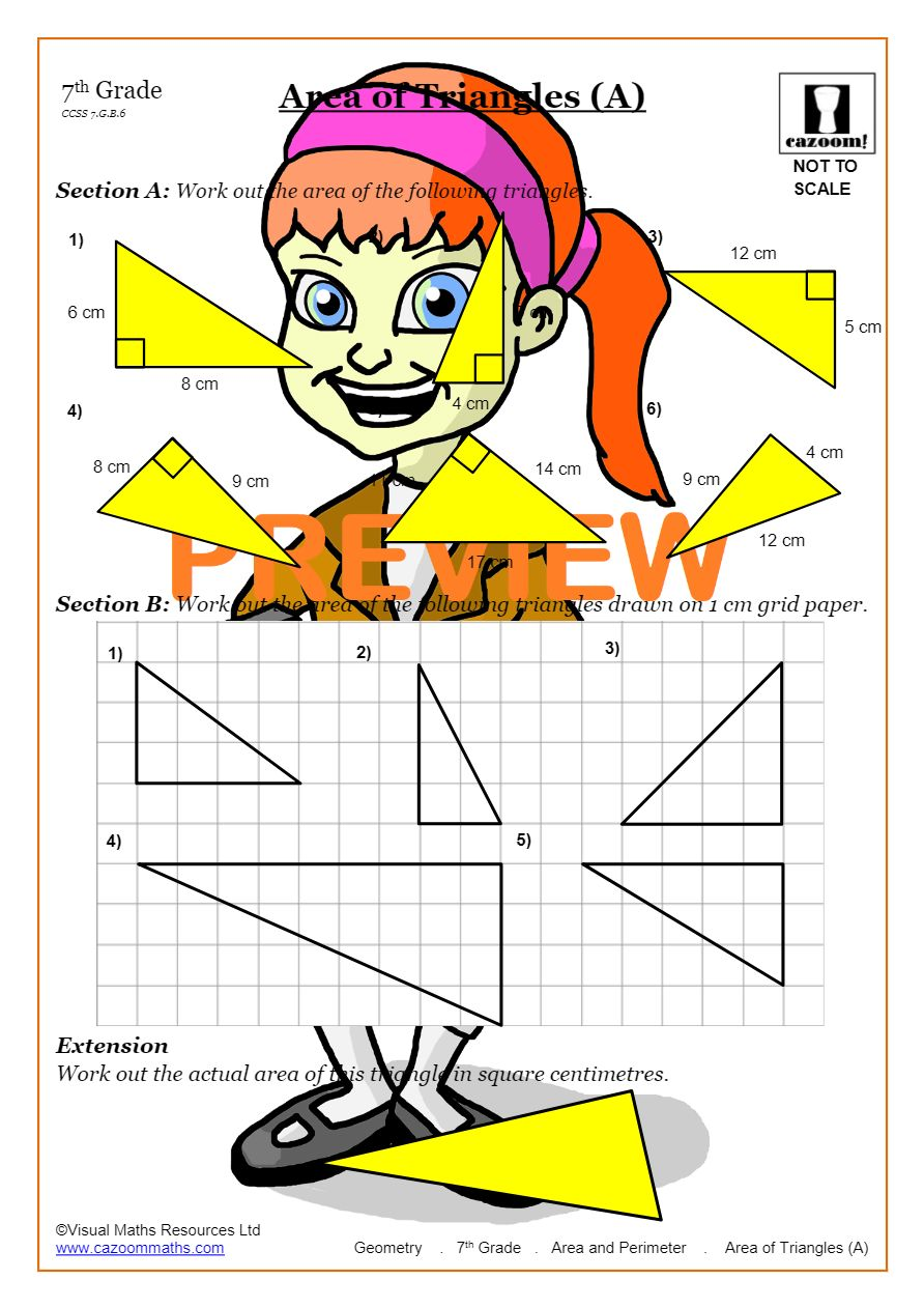 hight resolution of Area And Perimeter (Math Worksheets)   Cazoom Maths
