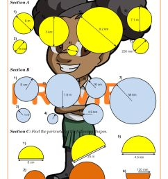 Area and Circumference of a Circle worksheet PDF   Circles Worksheets [ 1262 x 893 Pixel ]