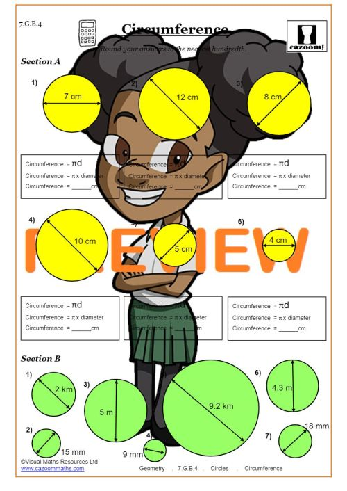 small resolution of Area and Circumference of a Circle worksheet PDF   Circles Worksheets