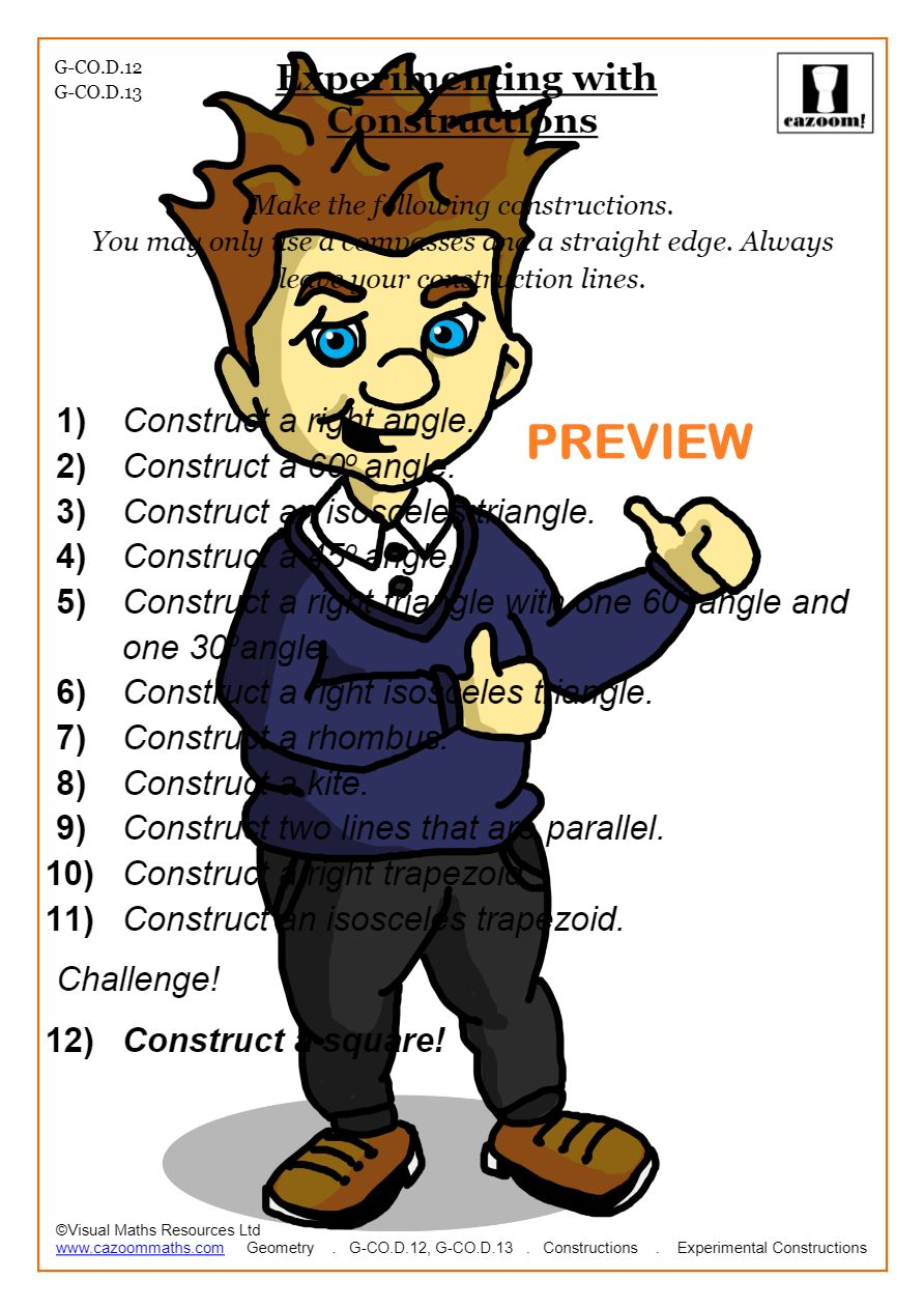 medium resolution of Constructions Worksheet PDF   Triangle Construction Worksheet