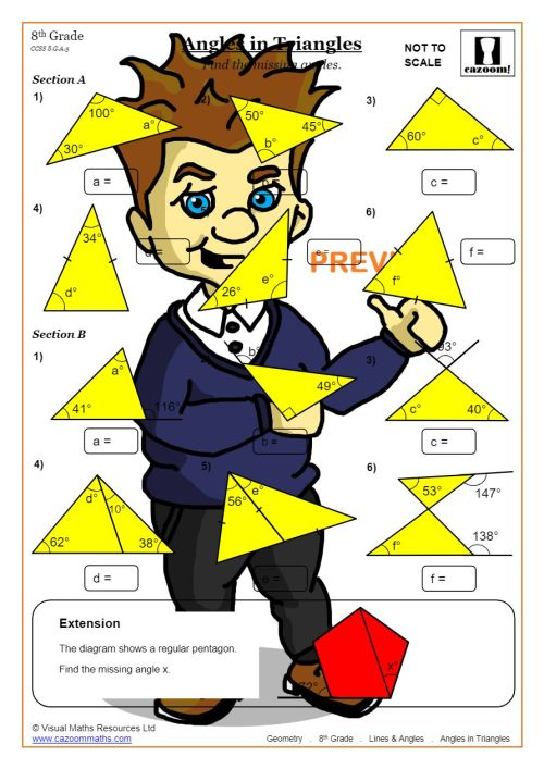 small resolution of Lines and Angles Worksheet Answers   Common Core Angles Worksheet