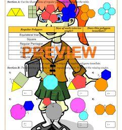Polygons Worksheet PDF   Polygons Angles Worksheet [ 1262 x 892 Pixel ]