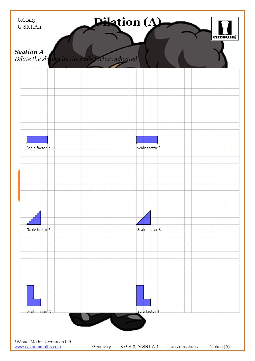 medium resolution of Transformations Worksheets (Geometry)   Cazoom Maths