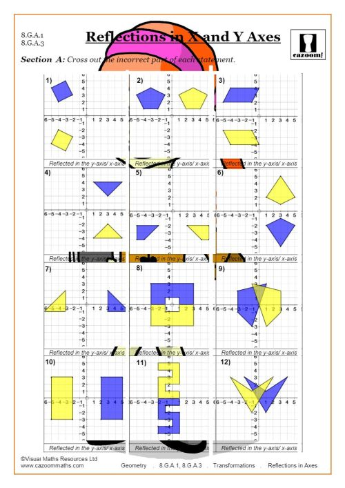 small resolution of Transformations Worksheets (Geometry)   Cazoom Maths
