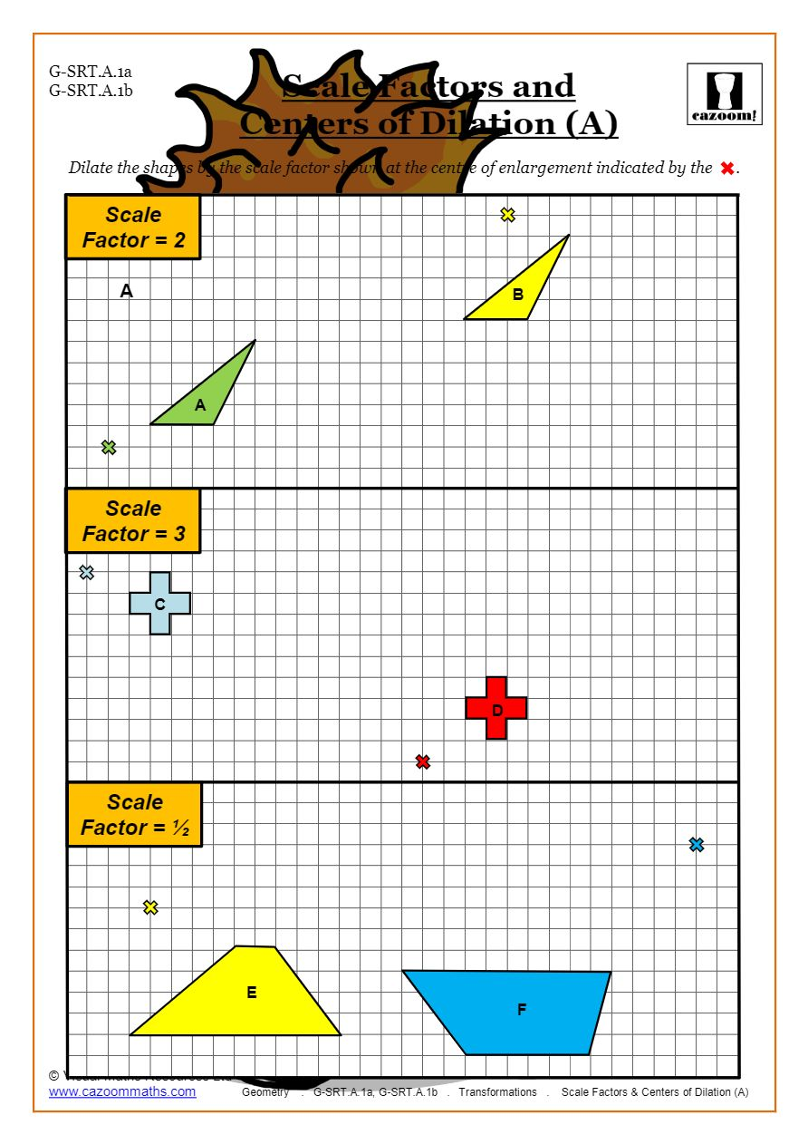 hight resolution of Transformations Worksheets (Geometry)   Cazoom Maths