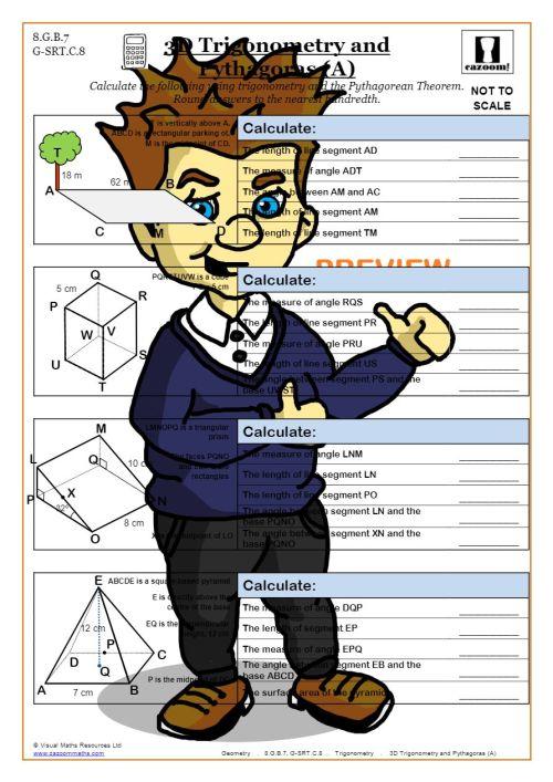 small resolution of Trigonometry Worksheets (Math Made Fun)   Cazoom Maths
