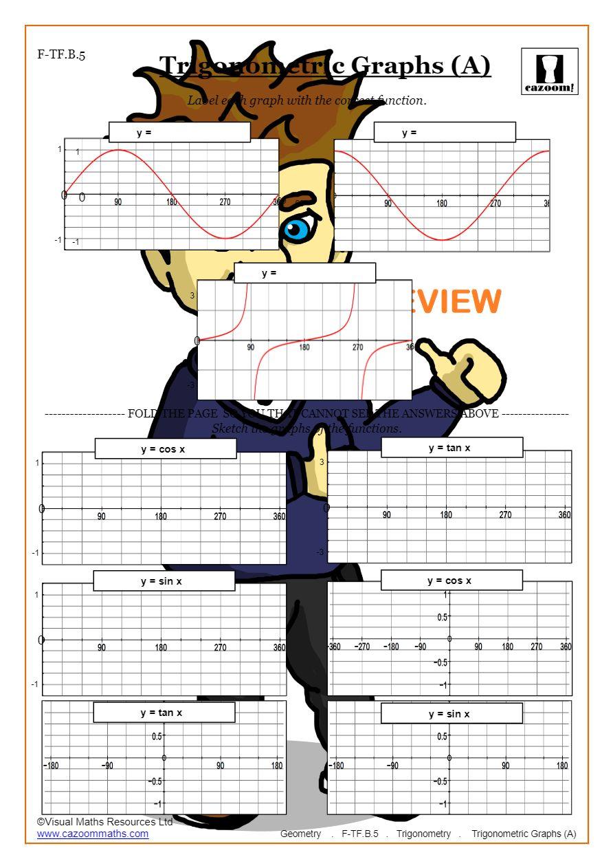 medium resolution of Trigonometry Worksheets (Math Made Fun)   Cazoom Maths