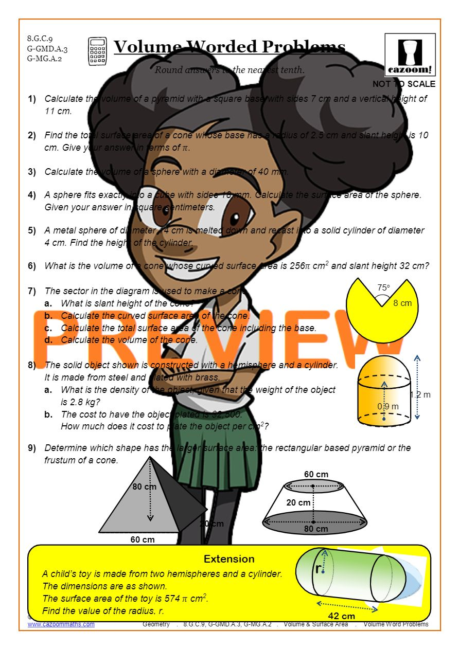 hight resolution of Surface Area and Volume Worksheets   Printable PDF Worksheets