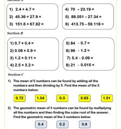 KS2 Decimals Worksheets PDF   Decimals Worksheets GCSE [ 1263 x 892 Pixel ]