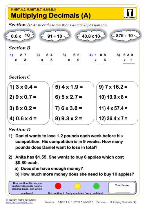 small resolution of KS2 Decimals Worksheets PDF   Decimals Worksheets GCSE
