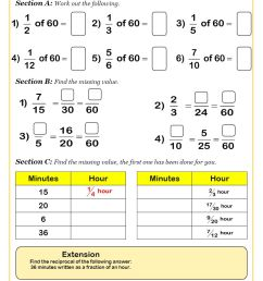 Fractions Worksheets   Fractions Math Sheets [ 1263 x 893 Pixel ]