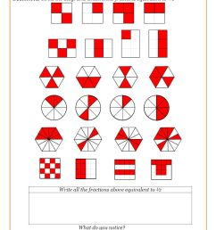 Fractions Worksheets   Fractions Math Sheets [ 1263 x 892 Pixel ]
