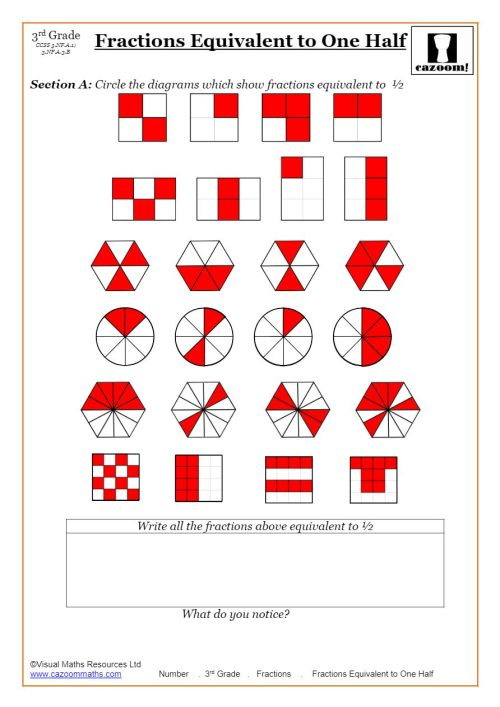 small resolution of Fractions Worksheets   Fractions Math Sheets