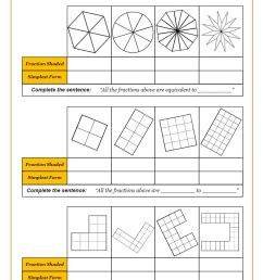 Fractions Worksheets   Fractions Math Sheets [ 1262 x 892 Pixel ]