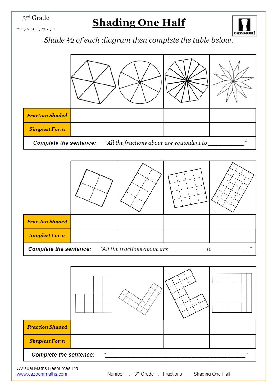 medium resolution of Fractions Worksheets   Fractions Math Sheets