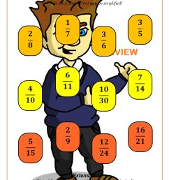Best Simplifying Fractions Worksheets   Cazoom Maths [ 1262 x 892 Pixel ]