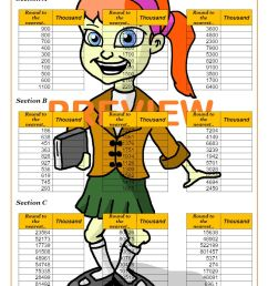 Rounding Worksheets PDF   Rounding Numbers Worksheets with Answers [ 1262 x 892 Pixel ]