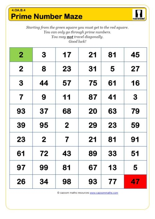 small resolution of Primes and Composites Worksheets   Printable PDF Worksheets