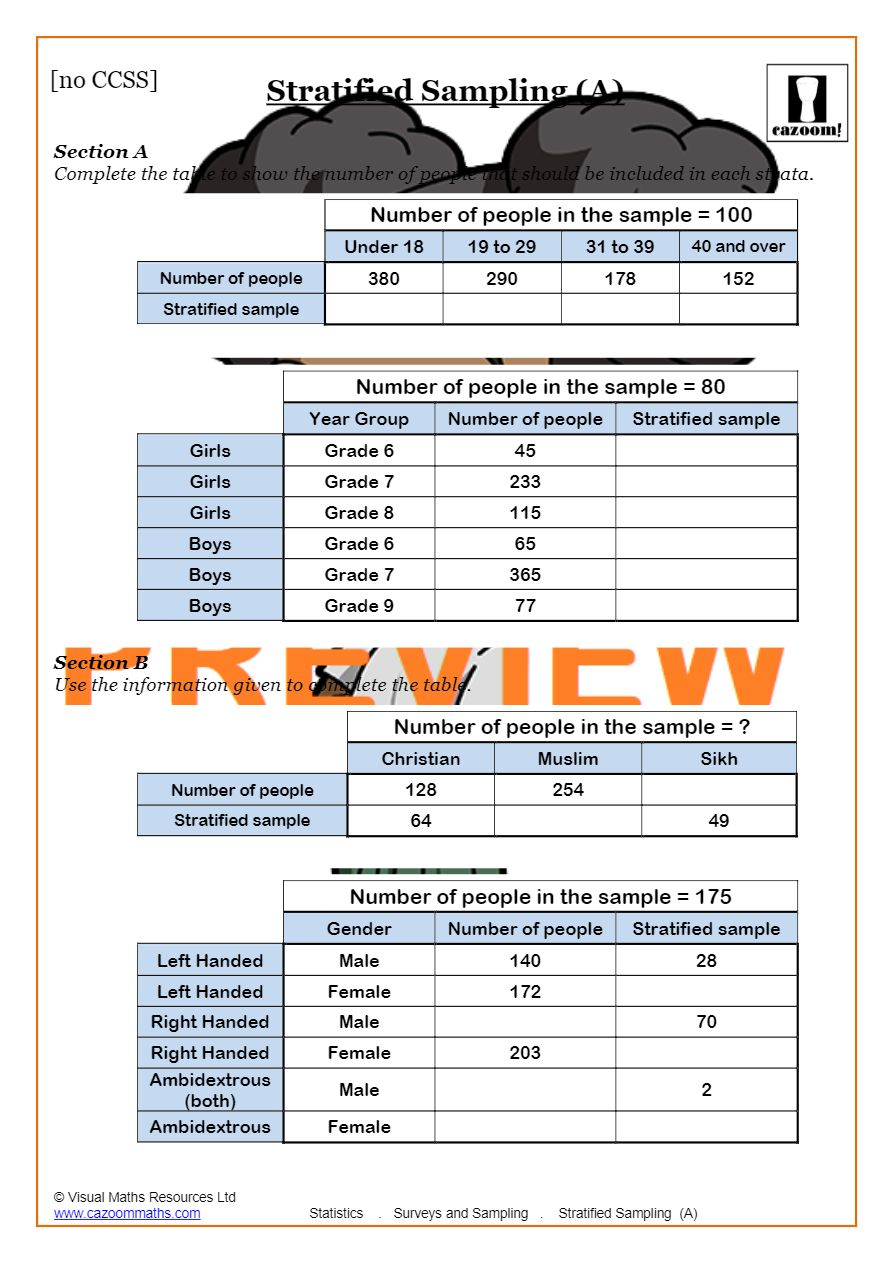 hight resolution of Samples And Surveys (2019 Worksheets)   Cazoom Maths