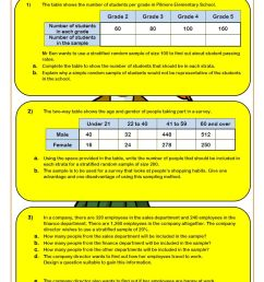 Samples And Surveys (2019 Worksheets)   Cazoom Maths [ 1262 x 892 Pixel ]
