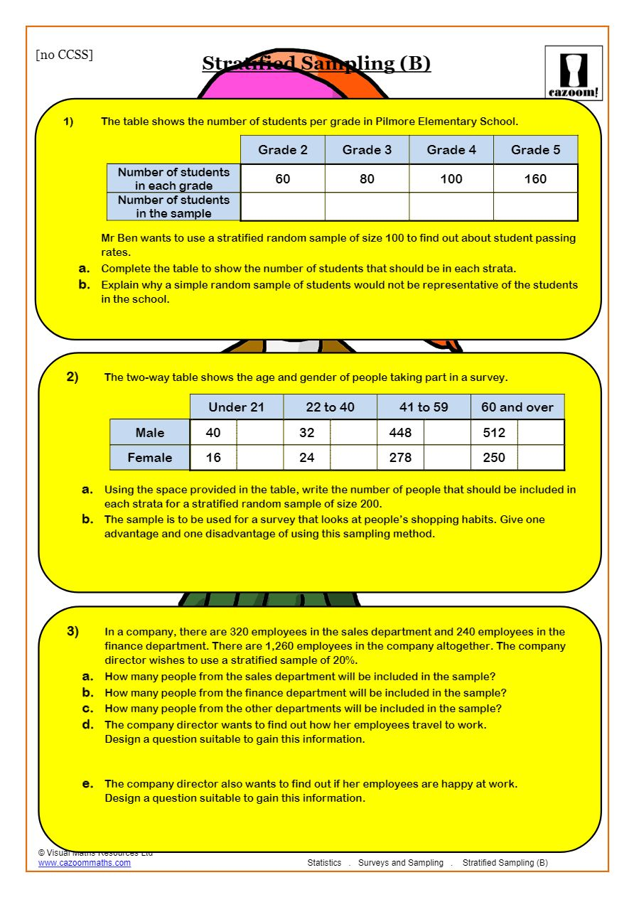 medium resolution of Samples And Surveys (2019 Worksheets)   Cazoom Maths