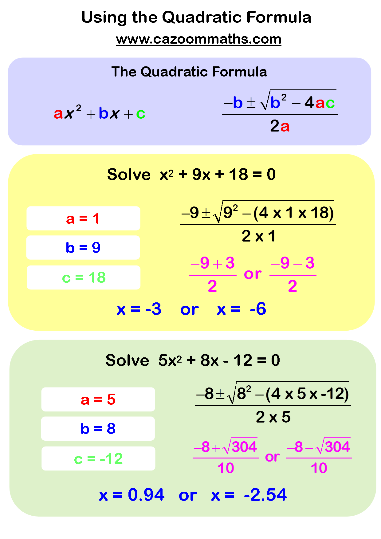 Quadratic Sequences Worksheet Gcse