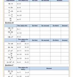 algebra worksheet: NEW 820 ALGEBRA BODMAS WORKSHEETS [ 1684 x 1191 Pixel ]