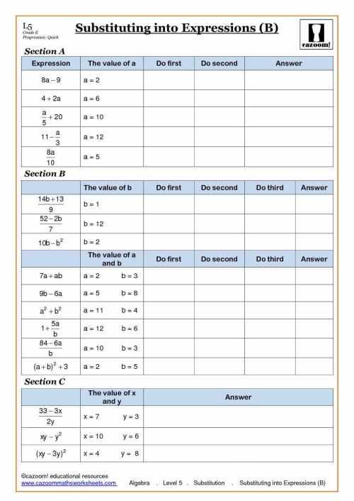 small resolution of algebra worksheet: NEW 820 ALGEBRA BODMAS WORKSHEETS