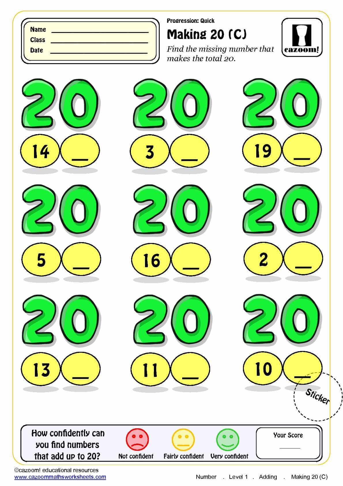 Ks1 Addition Maths Worksheet