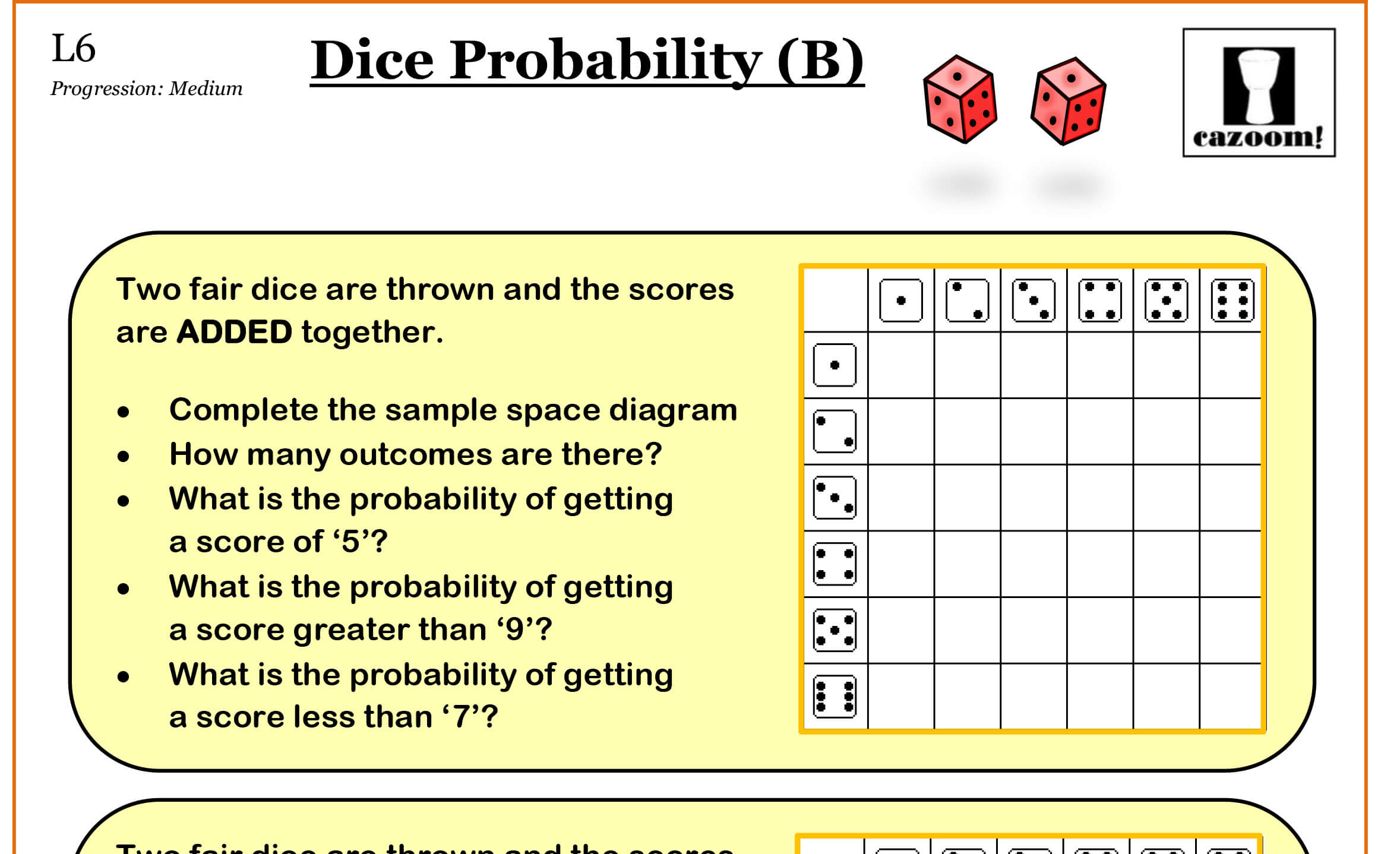 Probability Worksheets High School