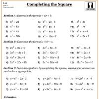 Worksheets. Completing The Square Worksheet. waytoohuman ...