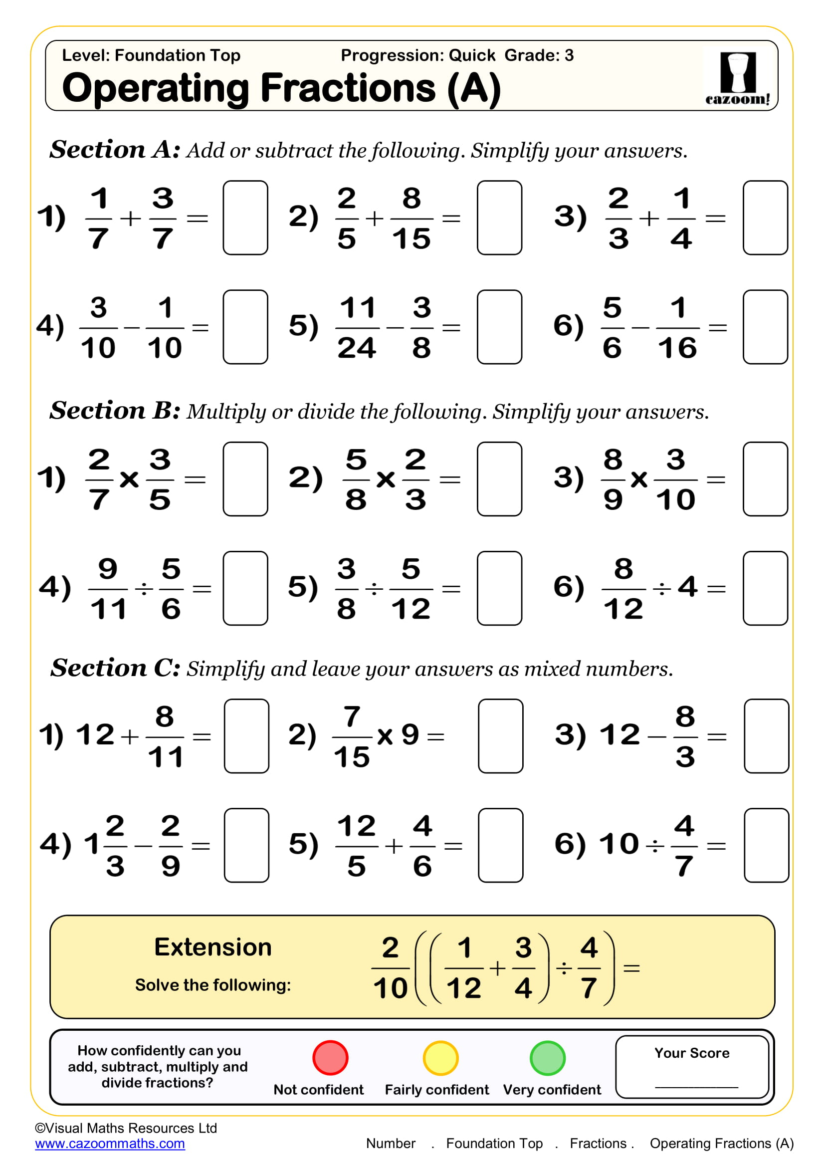 Math Worksheet 6 Years Old