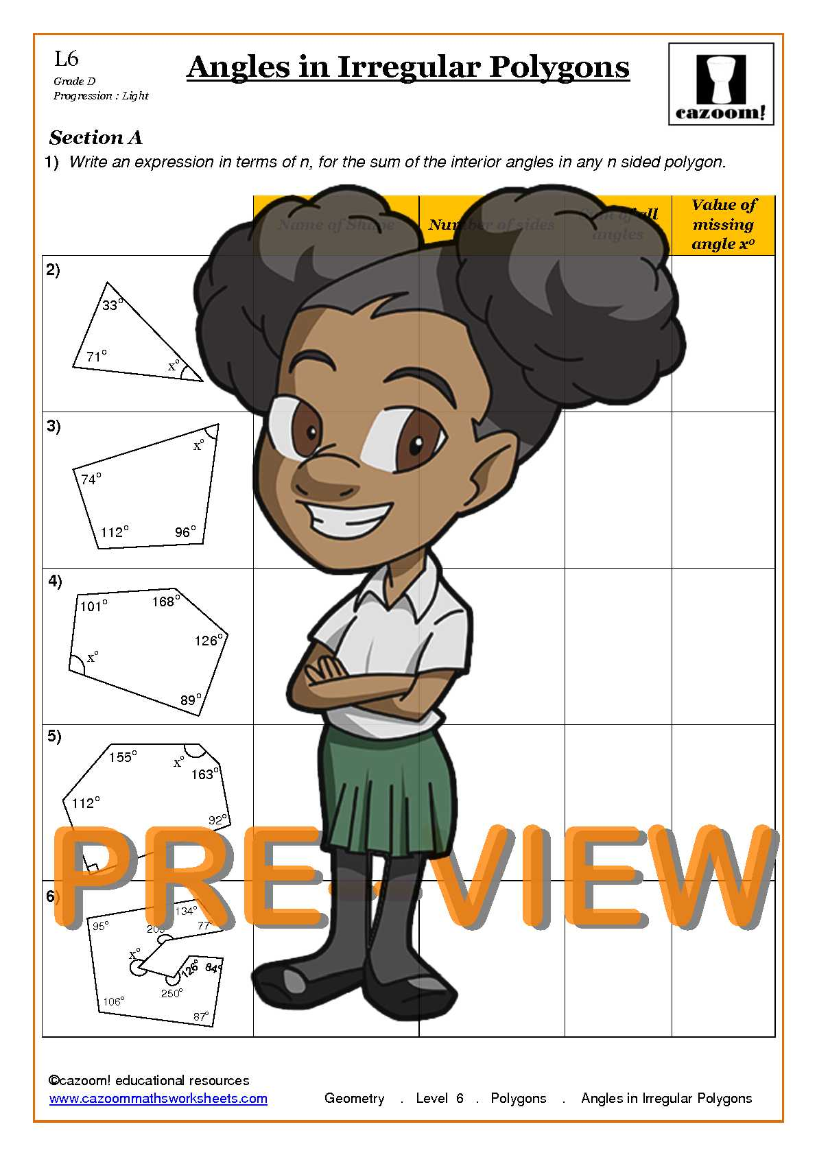 hight resolution of Polygons Maths Worksheets   Cazoom Maths worksheets