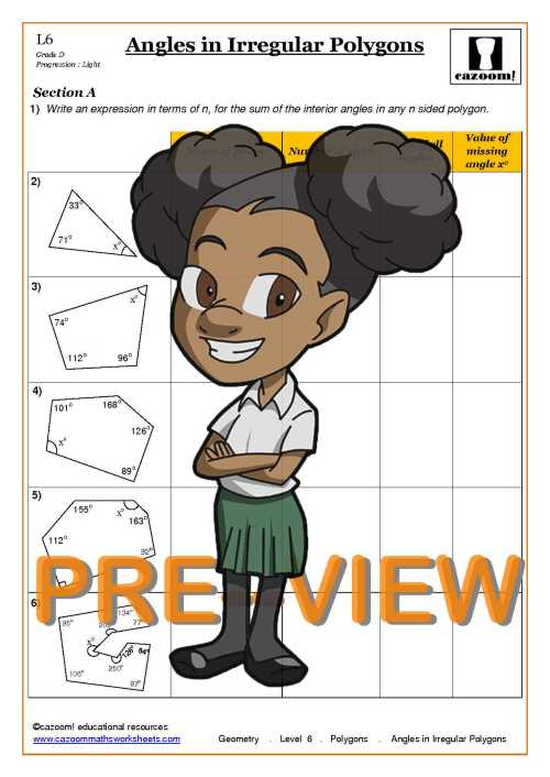 small resolution of Polygons Maths Worksheets   Cazoom Maths worksheets