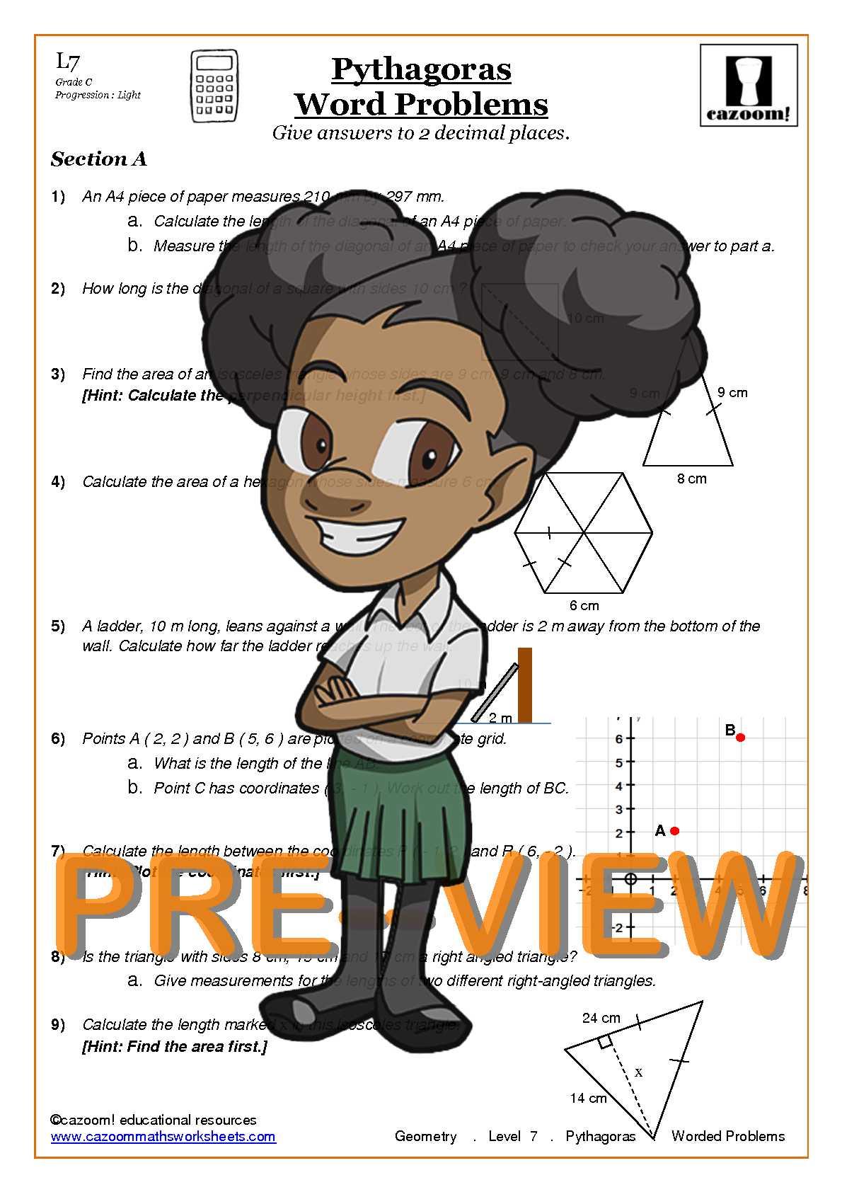 Pythagoras Worksheets