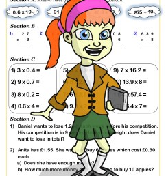 Cazoom Maths Worksheets - Decimals Maths Worksheets [ 1754 x 1240 Pixel ]