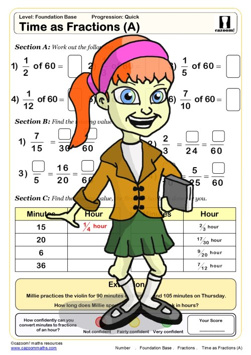 small resolution of Free Equivalent Fractions Worksheets   Cazoom Maths