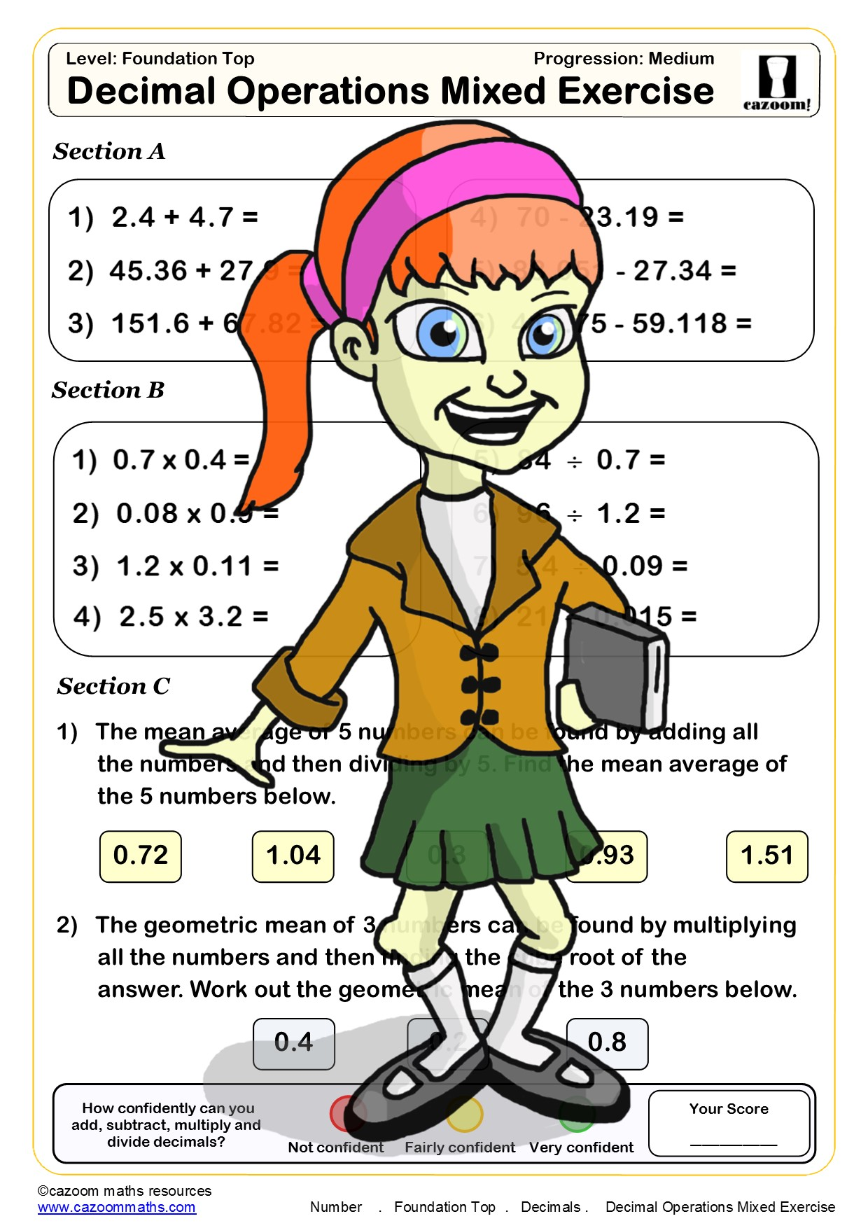 hight resolution of Year 8 Number Maths Worksheets   Cazoom Maths