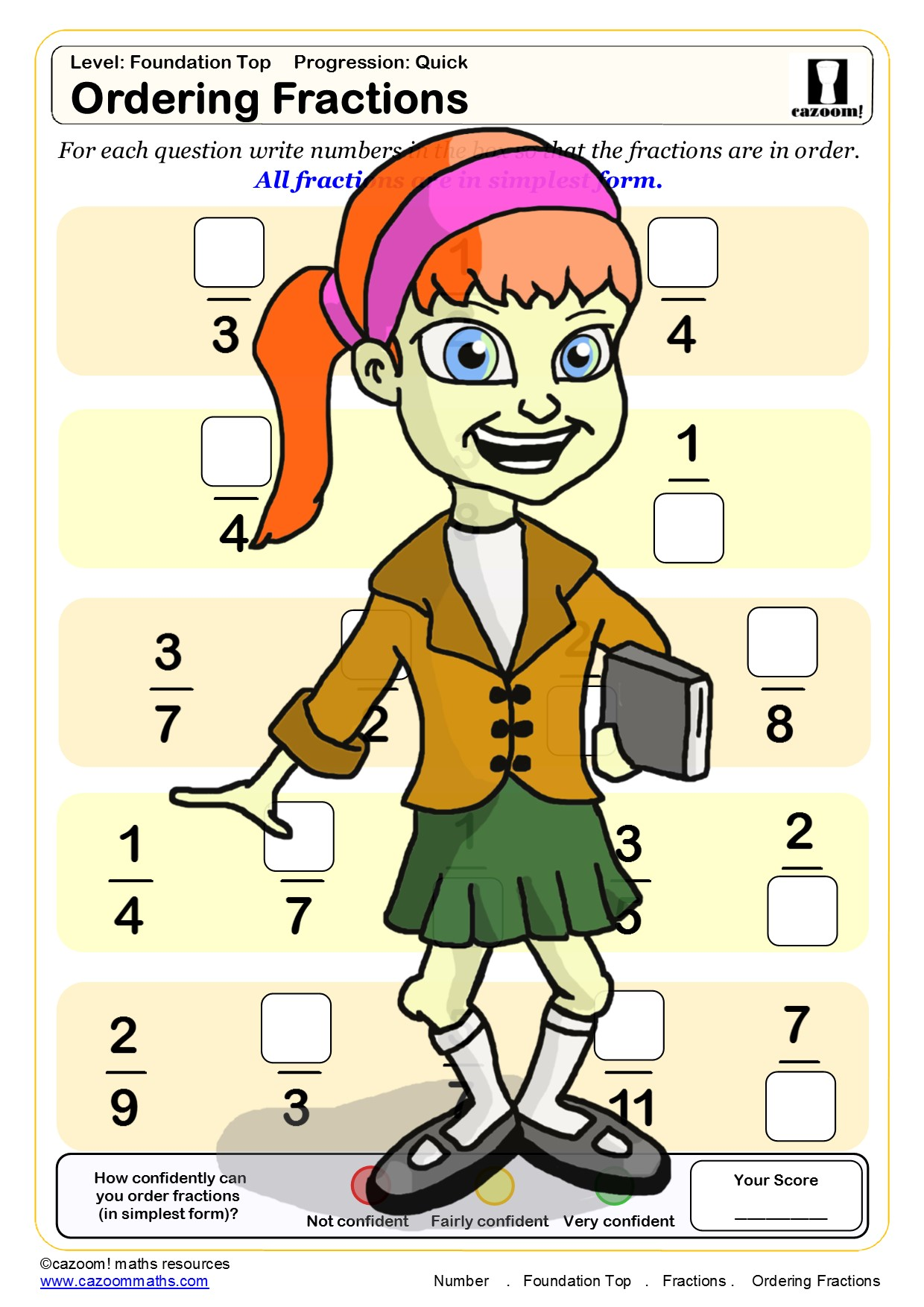 Free Equivalent Fractions Worksheets
