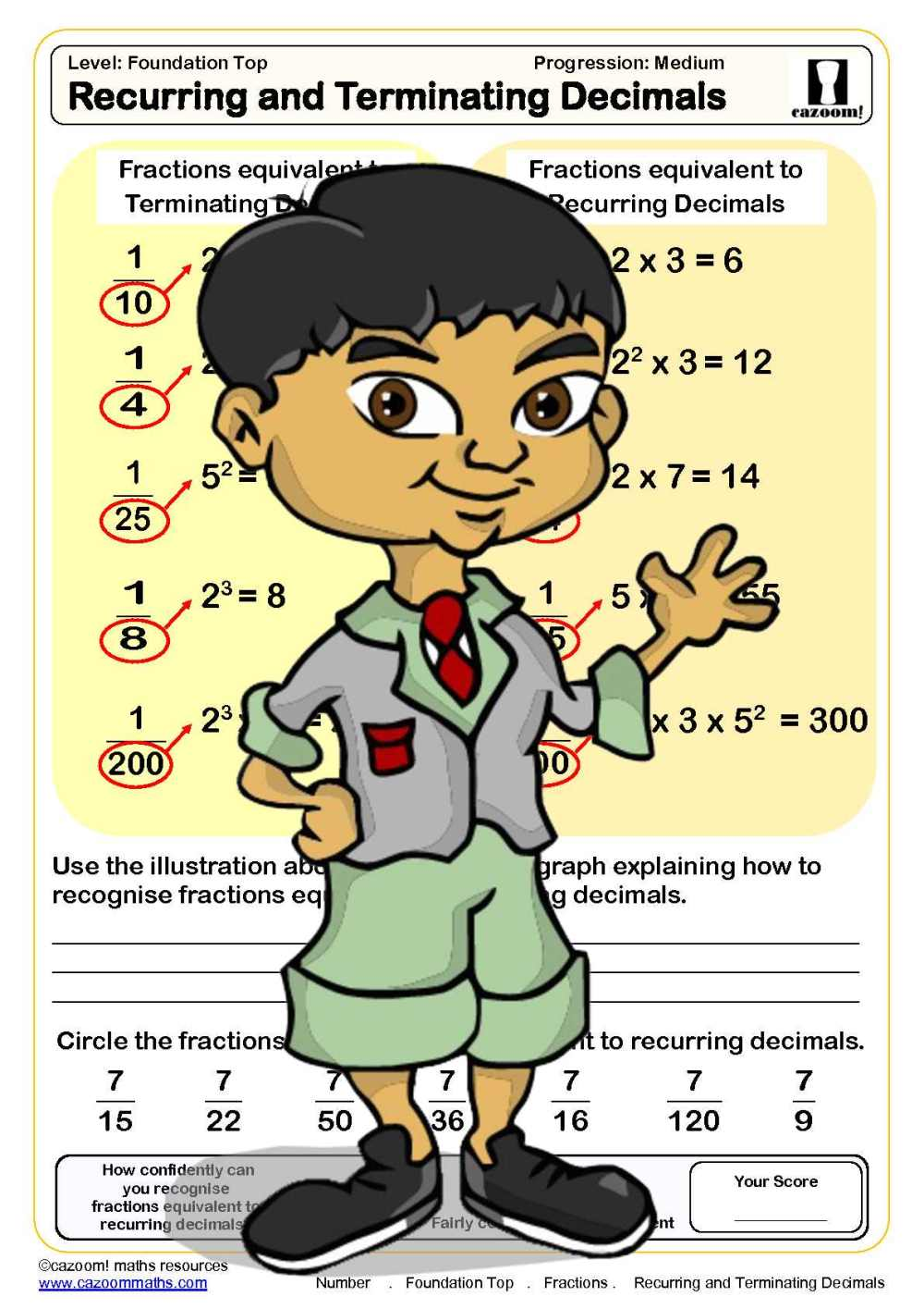 medium resolution of Free Equivalent Fractions Worksheets   Cazoom Maths