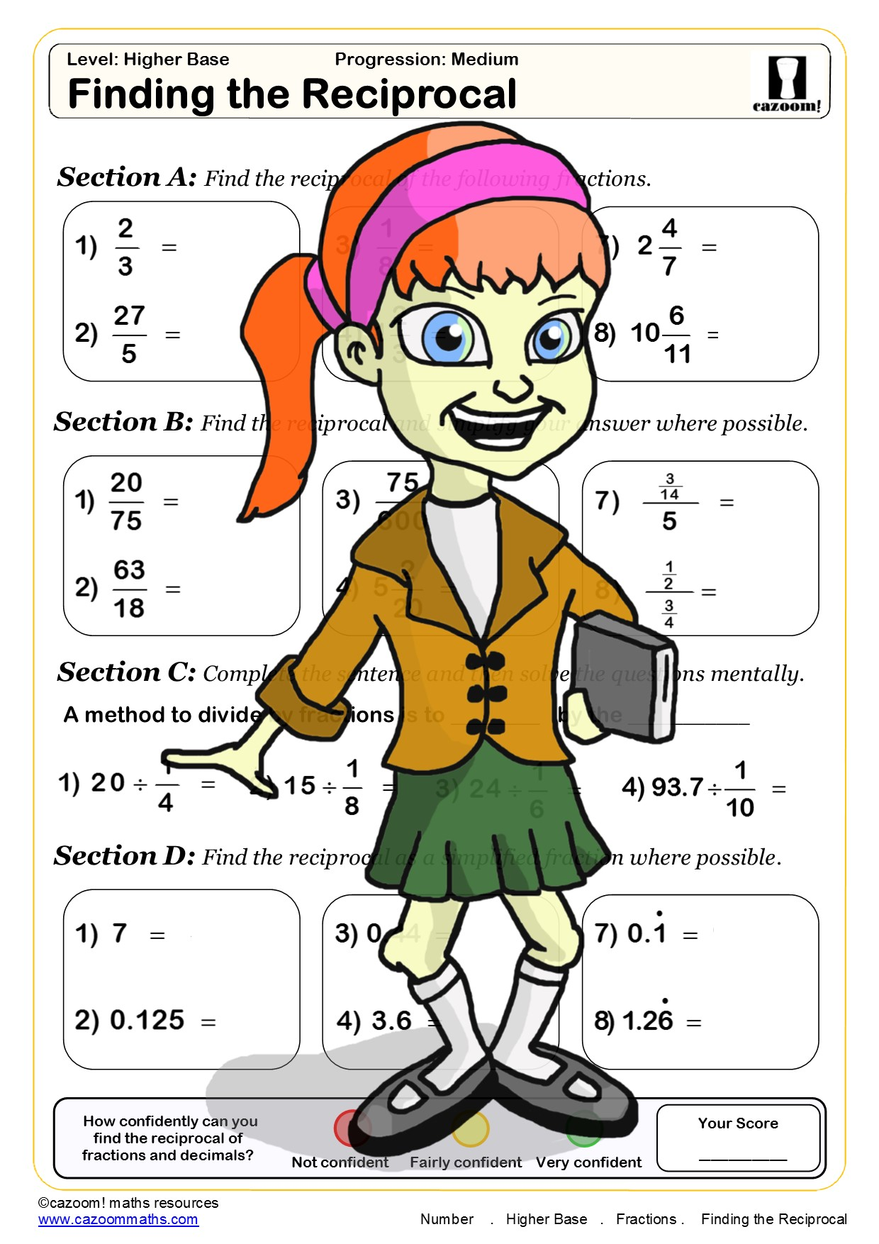 Ks3 Fractions Worksheets With Answers