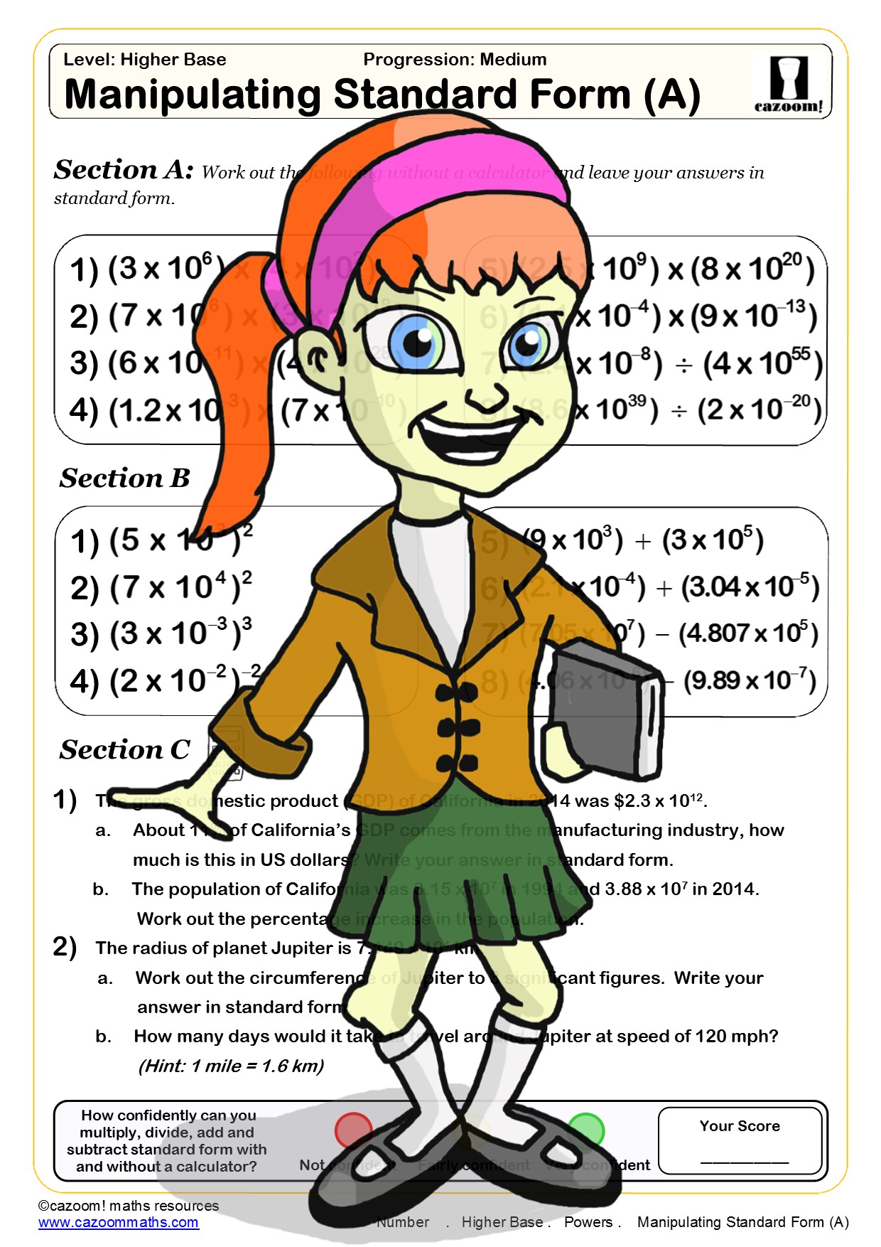 Cazoom Maths Worksheets
