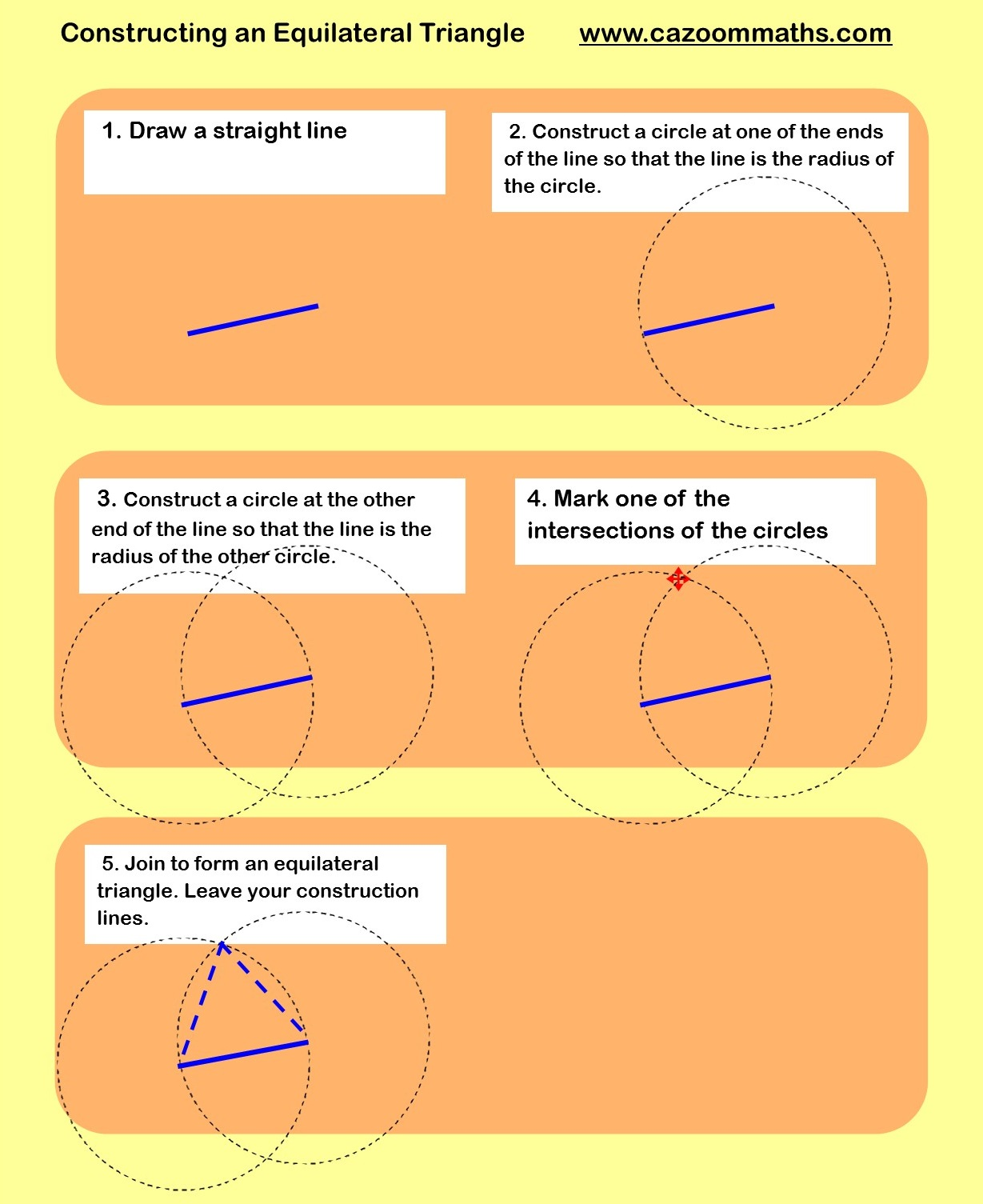 Constructions Worksheets